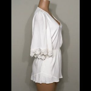 Lovers + Friends Pants - New. Reese off white romper. NWT